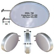 Oval Double Sided Lightbox - 760mm - Wall Fix